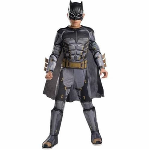 Rubies 249198 Justice League Movie Tactical Batman Deluxe Child Costume, Medium Perspective: front