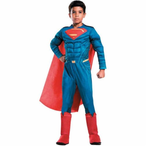 Rubies 249205 Justice League Movie Superman Deluxe Child Costume, Large Perspective: front
