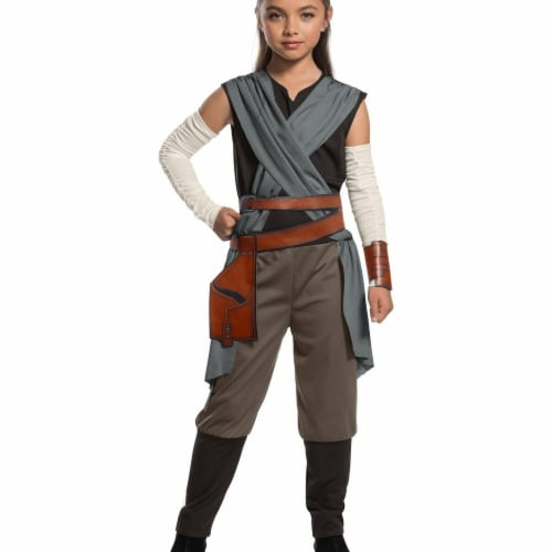 Rubies 271789 Star Wars Episode VIII - The Last Jedi Girls Rey Costume - Small Perspective: front
