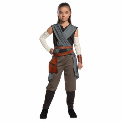 Rubies 271790 Star Wars Episode VIII - The Last Jedi Girls Rey Costume - Medium Perspective: front