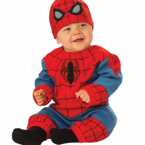 Rubies Costume 272028 Spider-Man Infant Romper 6-12 Months Perspective: front