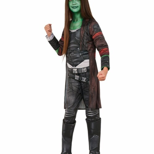 Rubies 248770 Guardians of The Galaxy Volume 2 Gamora Deluxe Childrens Costume, Black - Mediu Perspective: front