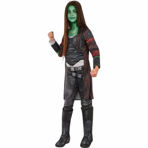 Rubies 248771 Guardians of The Galaxy Volume 2 Gamora Deluxe Childrens Costume, Black - Large Perspective: front
