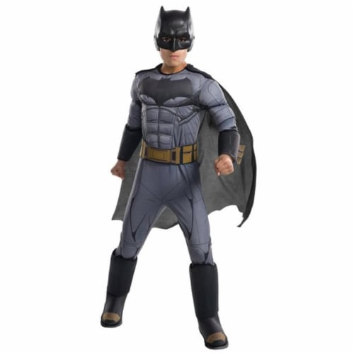 Rubies 249200 Justice League Movie Batman Deluxe Child Costume, Small Perspective: front
