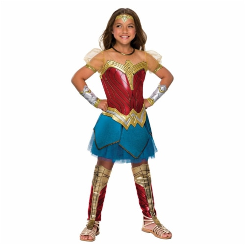 Rubies 274634 Justice League Girls Premium Wonder Woman Costume - Medium Perspective: front