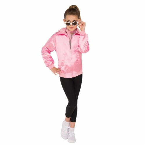 Rubies Costume 274672 Grease Girls Pink Ladies Jacket, Large Perspective: front