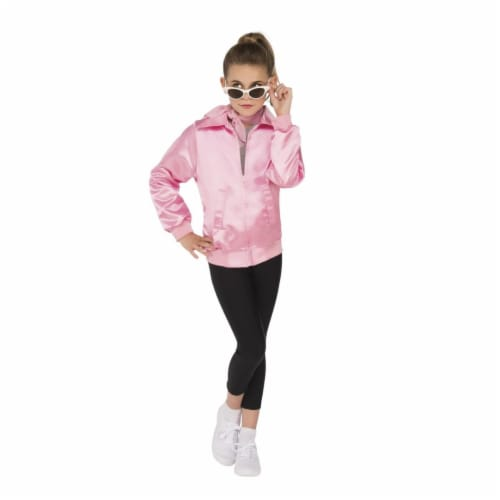 Rubies Costume 249189 Grease - Girls Black Stretch Leggings, Large Perspective: front