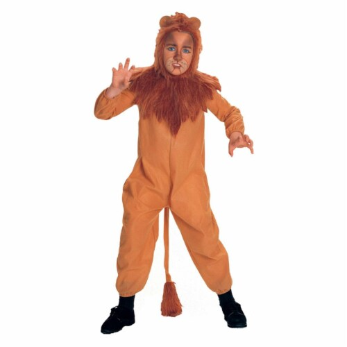 Rubies Costume Co 7152 The Wizard of Oz Cowardly Lion Child Costume Size Large- Boys 12-14 Perspective: front