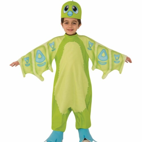 Rubies 249284 Draggles Hatchimal- Green Child Costume - Extra Small Perspective: front