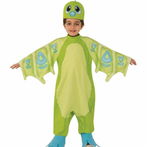 Rubies 249285 Draggles Hatchimal- Green Child Costume - Small Perspective: front