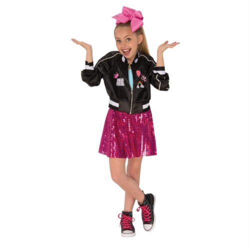 Rubies 270276 JoJo Siwa Girls Jacket, Black - Large Perspective: front