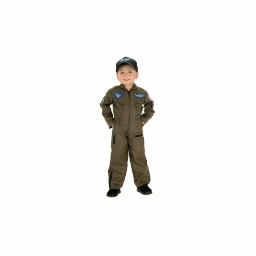 Costumes For All Occasions RU882701SM Air Force Fighter Pilot Chd Sm Perspective: front