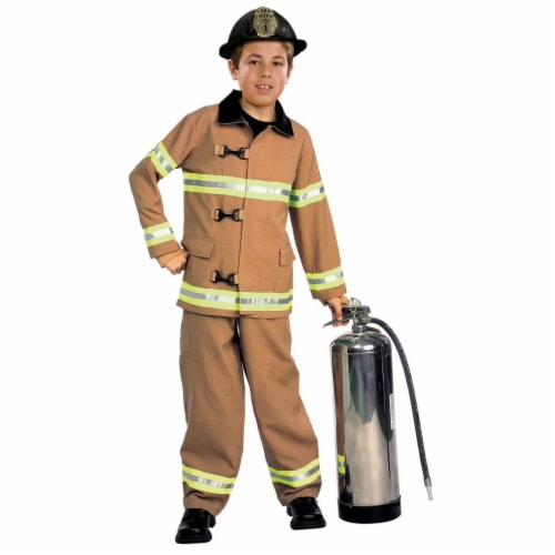 BuySeasons 286782 Firefighter Kids Costume, Small Perspective: front