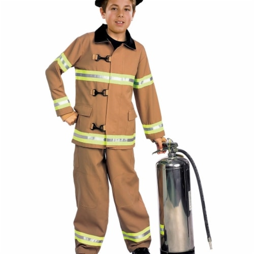 BuySeasons 286781 Firefighter Kids Costume, Medium Perspective: front