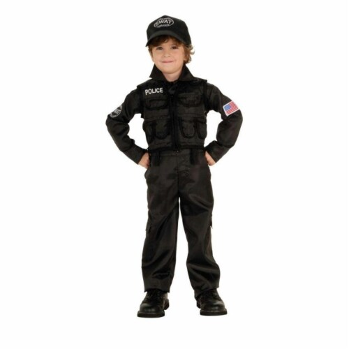 Costumes For All Occasions RU882813T Policeman Swat Toddler Perspective: front