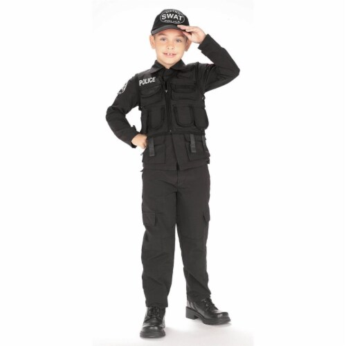 BuySeasons 286791 S.W.A.T. Police Kids Costume, Medium Perspective: front