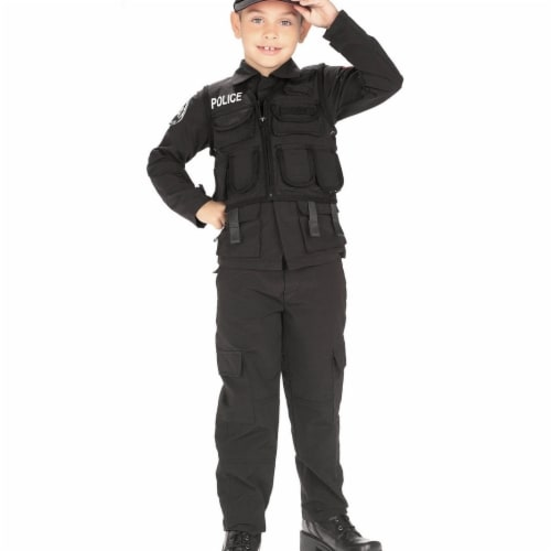 BuySeasons 286790 S.W.A.T. Police Kids Costume, Large Perspective: front