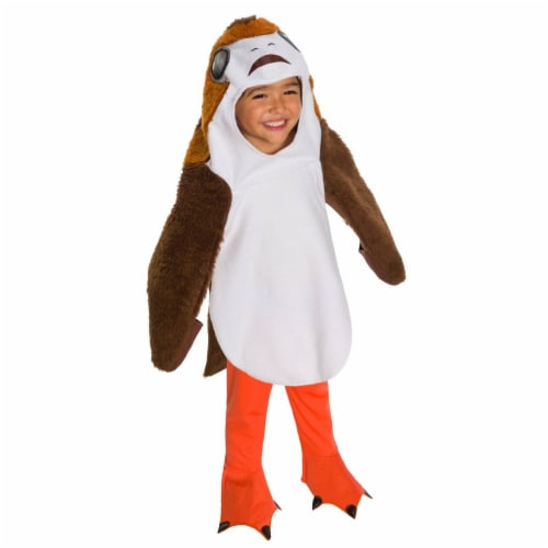 Rubies 278868 Halloween Star Wars The Last Jedi Deluxe Toddler Porg Costume - Extra Small Perspective: front