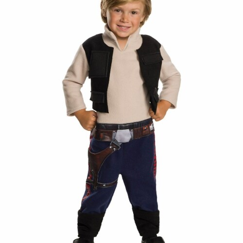 Rubies 278641 Halloween Star Wars Classic Toddler Han Solo Costume - 3T-4T Perspective: front