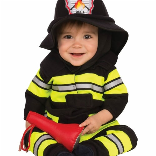 Rubies 278657 Halloween Baby & Toddler Fireman Costume Perspective: front