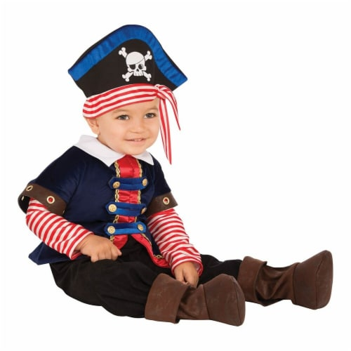 Rubies 278661 Halloween Baby Pirate Boy Costume - Toddler Perspective: front