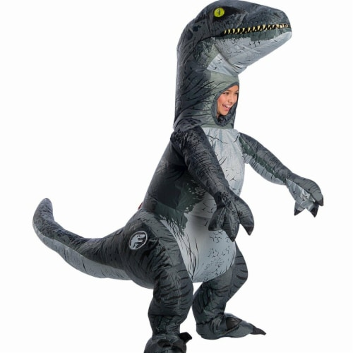 Rubies 278869 Halloween Jurassic World Fallen Kingdom Child Velociraptor Inflatable Costume - Perspective: front