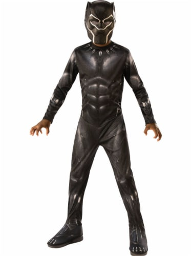 Rubie's Boys' Medium Black Panther Costume Perspective: front