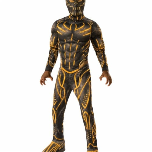 Rubies 276703 Halloween Marvel Black Panther Movie Deluxe Boys Erik Killmonger Battle Suit Co Perspective: front