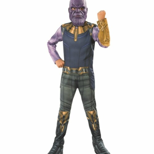 Rubies 278884 Halloween Marvel Avengers Infinity War Thanos Boys Costume - Small Perspective: front