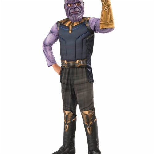 Rubies 278899 Halloween Marvel Avengers Infinity War Thanos Deluxe Boy Costume - Small Perspective: front