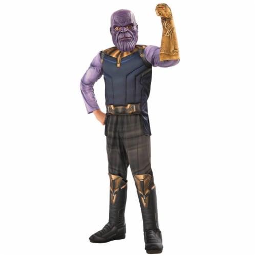 Rubies 278898 Halloween Marvel Avengers Infinity War Thanos Deluxe Boy Costume - Medium Perspective: front