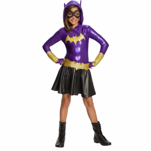 Rubies 278917 Halloween Dc Super Hero Girls Batgirl Hoodie Dress - Small Perspective: front