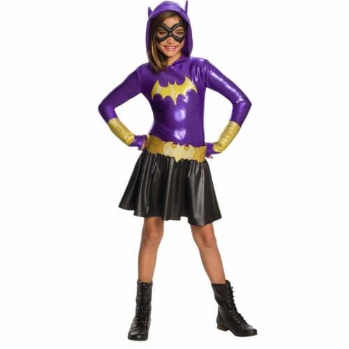 Rubies 278915 Halloween Dc Super Hero Girls Batgirl Hoodie Dress - Large Perspective: front