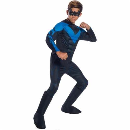 Rubies 278924 Halloween Dc Comics Boys Deluxe Nightwing Costume - Large Perspective: front