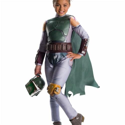 Rubies 278929 Halloween Star Wars Classic Girls Boba Fett Costume - Medium Perspective: front