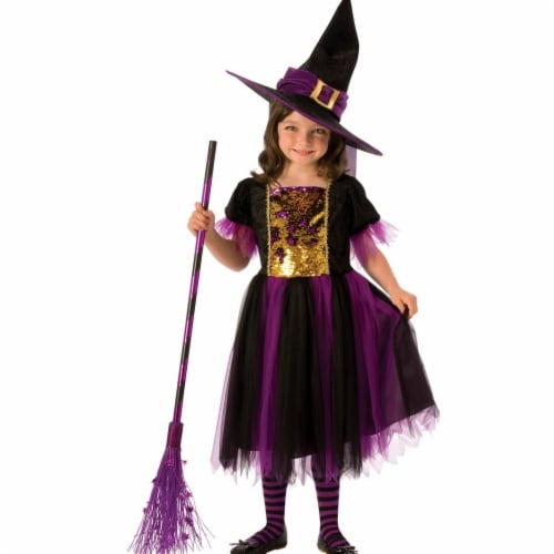 Rubies Costume 280163 Girls Color Magic Witch Costume Small Perspective: front