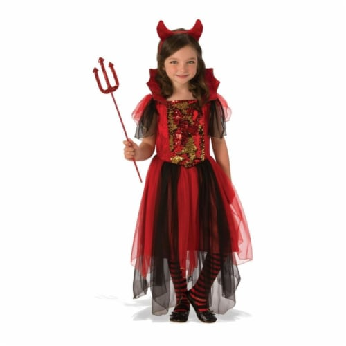 Rubies Costume 280166 Girls Color Magic Devil Costume, Small Perspective: front