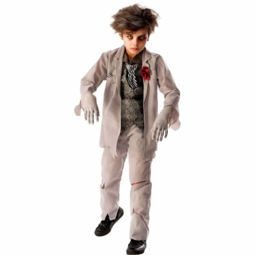 Rubies 278952 Halloween Boys Ghost Groom Costume - Small Perspective: front