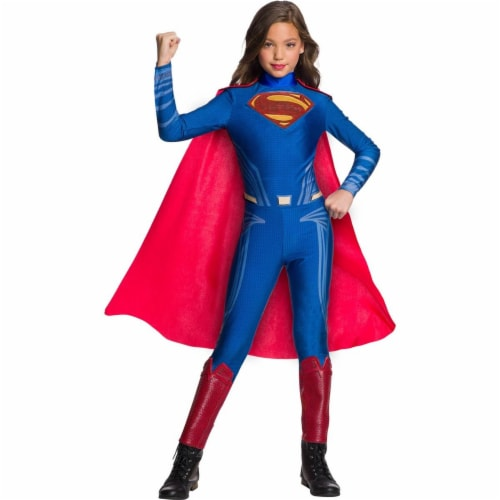 Rubies 278954 Halloween Justice League Girls Superman Jumpsuit - Medium Perspective: front