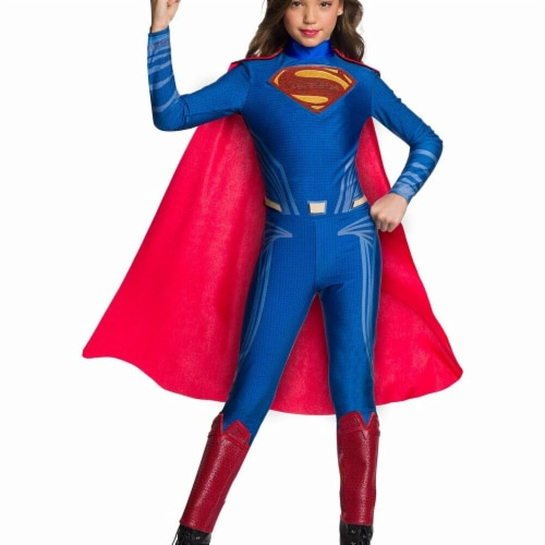 Rubies 278953 Halloween Justice League Girls Superman Jumpsuit - Large Perspective: front