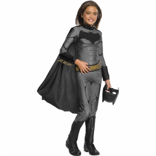 Rubies 278956 Halloween Justice League Girls Batman Jumpsuit - Large Perspective: front