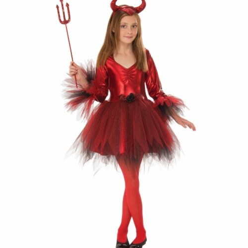 Rubies Costume 280181 Girls Classic Devil Costume Small Perspective: front