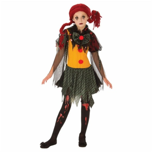 Rubies 278973 Halloween Girls Zombie Clown Costume - Large Perspective: front