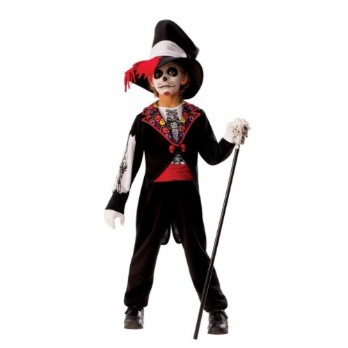Rubies Costume 280199 Boys Day of the Dead Boy Costume, Large Perspective: front