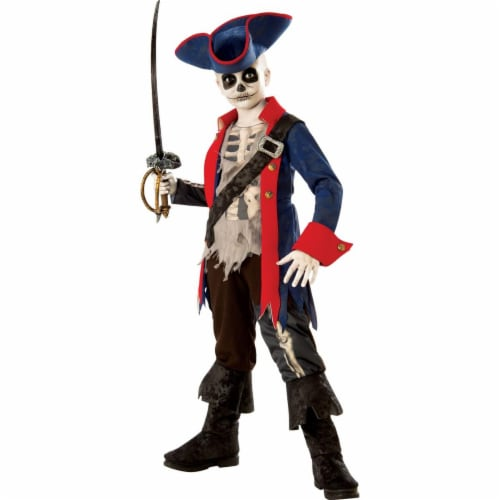 Rubies 278977 Halloween Boys Captain Bones Costume - Medium Perspective: front