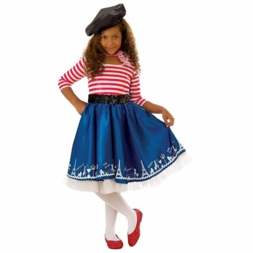 Rubies 278994 Halloween Girls Petite Mademoiselle Costume - Medium Perspective: front