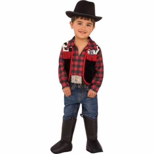 BuySeasons 286651 Kids Cowboy Costume, Medium Perspective: front