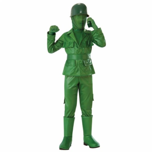 Rubies 279018 Halloween Boys Green Army Boy Costume - Large Perspective: front