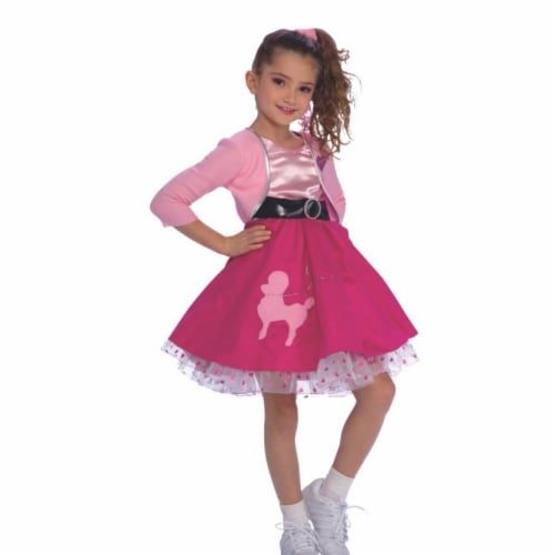Rubies 406479 50s Girls Costume, Medium Perspective: front