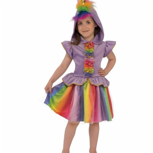 Rubies 279023 Halloween Girls Unicorn Costume - Medium Perspective: front